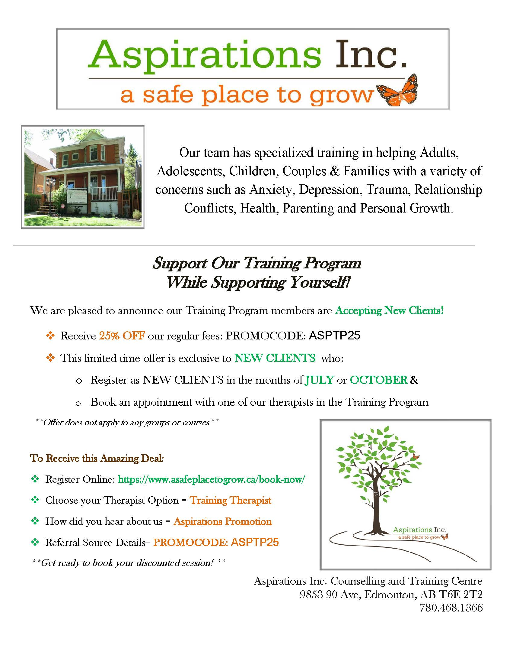 Support Our Training Program Flyer